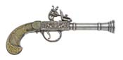 English Flintlock Blunderbuss Pistol-Gray