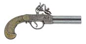 English Double Barrel Flintlock Gray