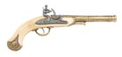 India Flintlock Pistol Brass/Ivory