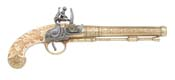 Belgian Gold Engraved Flintlock