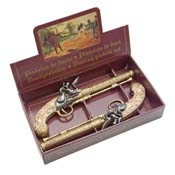 Belgian Gold Engraved Dueling Set
