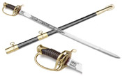 CSA Officer's Sword With Black Scabbard.