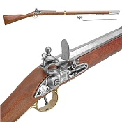 Brown Bess Musket with Bayonet