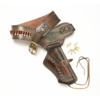 Old West Single Rig Holster With Bullets