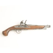 18th Century Engraved Non Firing Flintlock Pistol-Gray