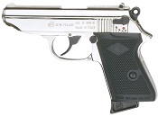 PPK 8MM Blank Firing Gun-Nickel