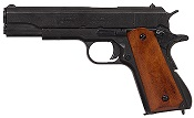Replica M1911A1 Government Automatic Pistol Non-Firing Gun Black, Dark Wood Grips