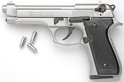 Beretta 92F-8MM Blank Firing Gun-Nickel