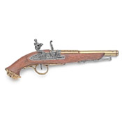 18th Century Replica Pirate Flintlock Pistol-Brass