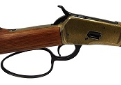 M1892 Western Rifle With Loop Lever Antique Brass Finish Non Firing Replica Gun