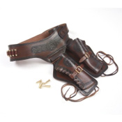 Old West Double Rig Holster With Bullets