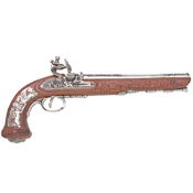 Classic French Dueling Pistol Silver Finish