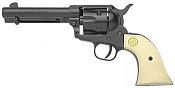 1873 Peacemaker 6MM Caliber Blank Gun- Black - Ivory Grips