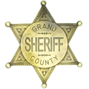 Grand County Sheriff Badge – Brass