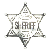 Grand County Sheriff Badge – Nickel