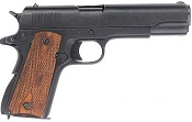 .45 Government Automatic Pistol with Checkered Wood Grips