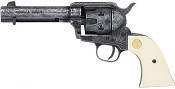 1873 Peacemaker 380/9MM Blank Gun Antiqued, Ivory Grips