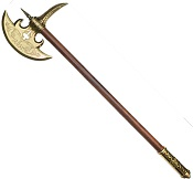 16TH CENTURY GERMAN BATTLE AXE BRASS FINISH