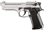 Kimar M92 8MM Semi-Auto Blank Firing Pistol - Nickel Finish