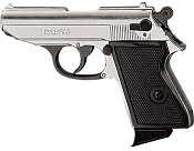 Kimar PPK 8MM Semi-Auto Blank Firing Pistol - Nickel
