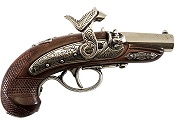 Philadelphia Derringer Cap Firing Replica - Shiny Nickel