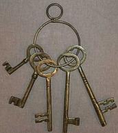 Old West Jailer's Keys.