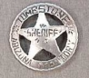 Deluxe Sheriff Tombstone Badge.