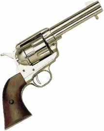 Western Peacemaker Pistol Nickel Finish