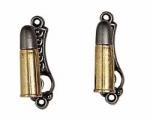 Bullet Gun Hanger - Gold/Silver Finish