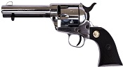 1873 Peacemaker 6MM Blank Gun-Silver-Black